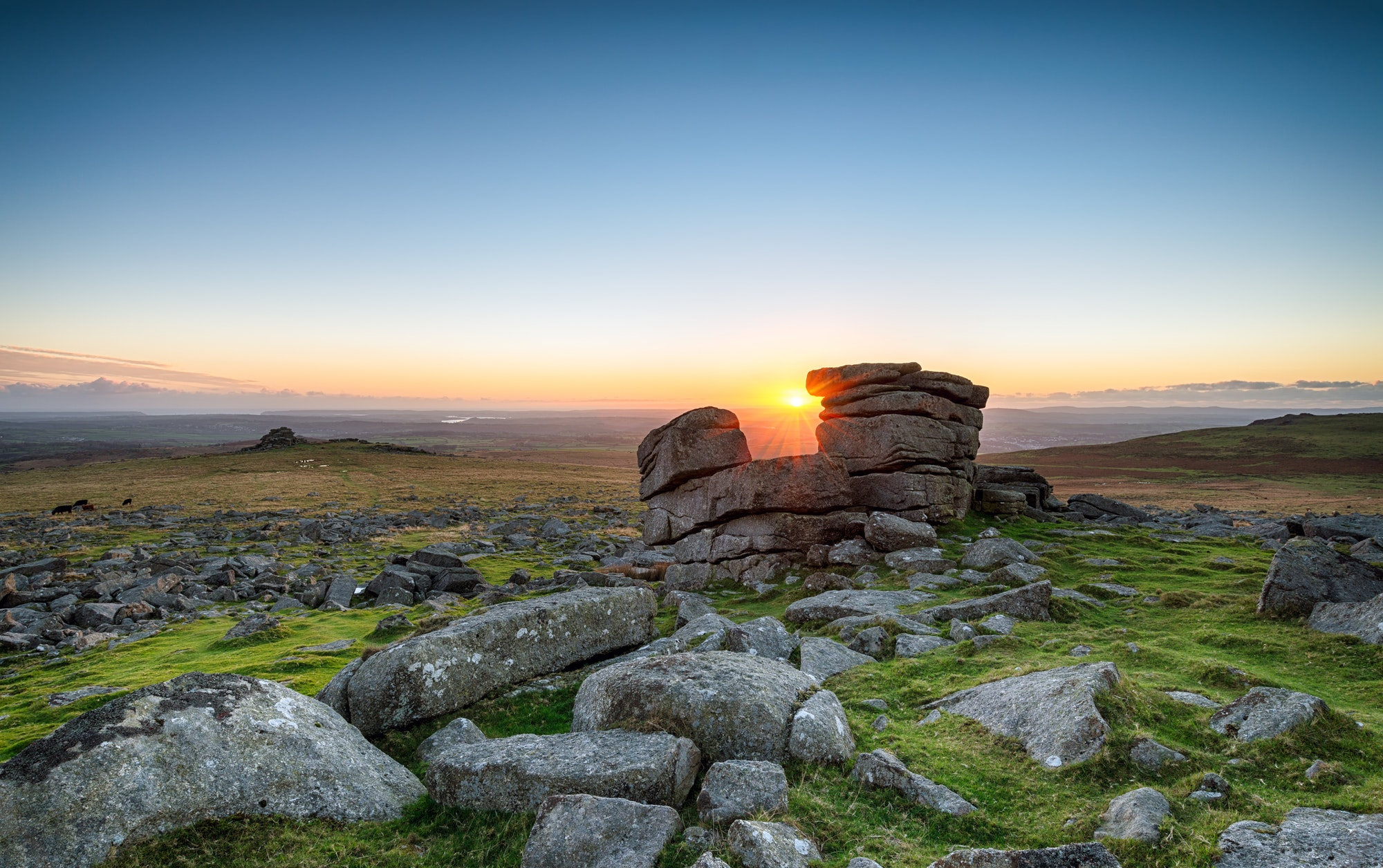 Sunset at Staple Tor